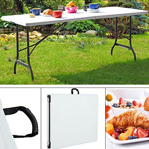 Tisch Klappbar Kunststoff.Tisch Klappbar Kunststoff Weiß 76x182 Cm Partytisch